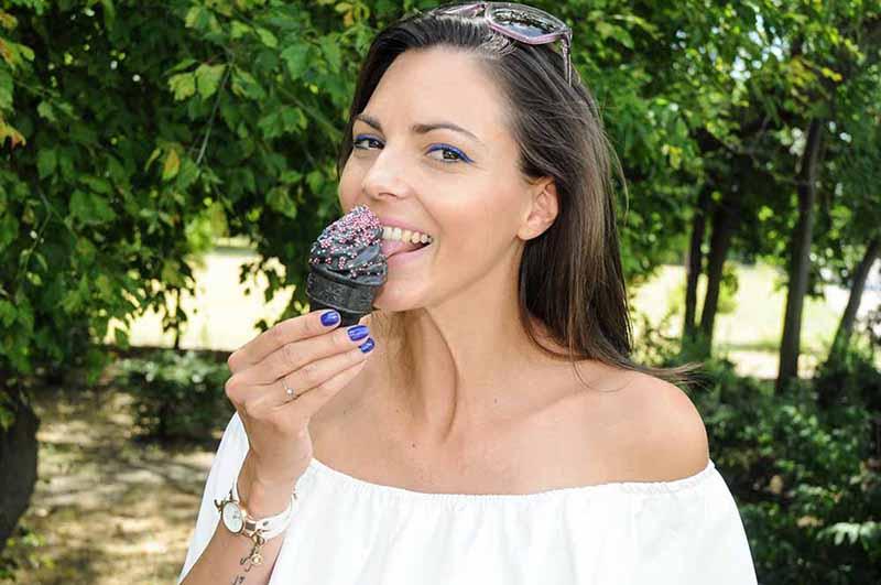 Köböl Anita televíziós műsorvezető Fotó: Juhász Tibor