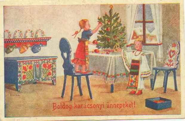 A képeslap régen