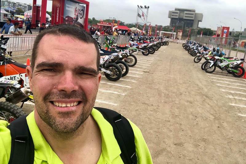 Horváth Lajos Laller Dakar rajt előtt